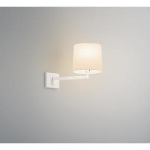 Swing, Tiefe 42 cm, Textilschirm, weiß matt