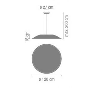Vibia Big, Ø 100 cm, weiß matt