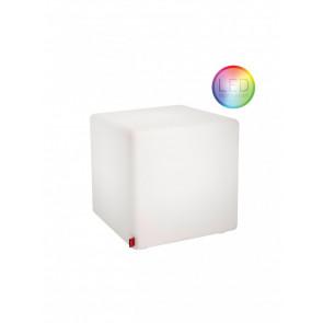 Fernbedienung mit Teildefekt. Das Gehäuse des Cubes ist vergilbt.
