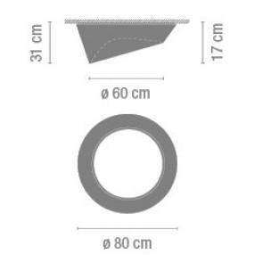 Vibia Plus, Ø 80 cm, schräg, dimmbar