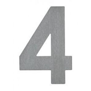 Hausnummer 4, Edelstahl