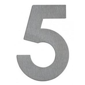 Hausnummer 5, Edelstahl