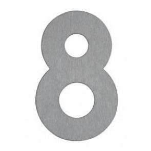 Hausnummer 8, Edelstahl