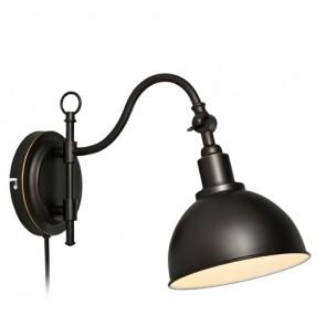 Ekelund, 1-flammig, mit Stecker, schwarz