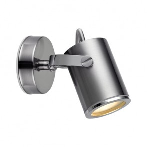 LUX Wall Spot 1L IP44 Steel