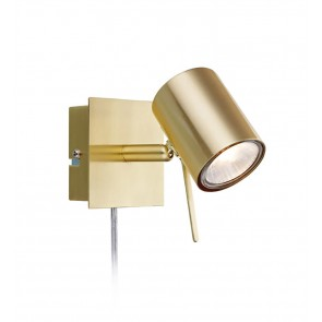 HYSSNA LED Wall 1L Brushed Brass