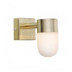 MENTON Wall 1L Brass/Opal IP44