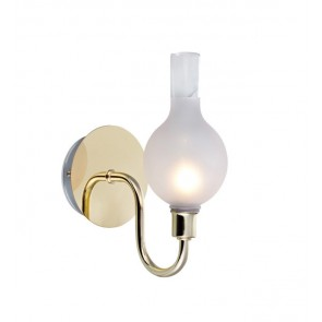 LIBERTY Wall 1L Brass/Frosted IP44
