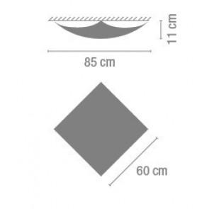 Quadra Ice 1132, 60 x 60 x 11 cm, Leuchtstofflampe
