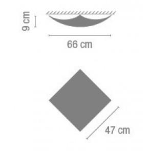 Quadra Ice 1134, 47 x 47 x 9 cm, Halogen