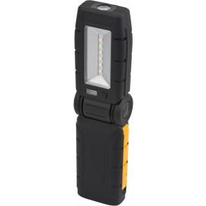 6+1 LED Akku Multifuntkionsleuchte Länge 22 cm schwarz 1-flammig rechteckig