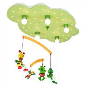 Wolke mit Mobile Bienen und Frösche, lindgrün