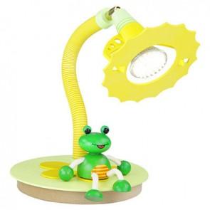 Tischleuchte Frosch, lindgrün/gelb
