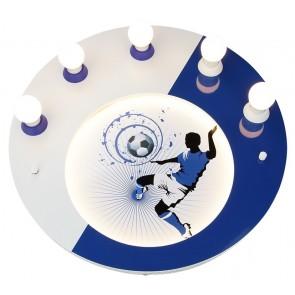 Elobra Deckenleuchte Soccer, blau/weiß
