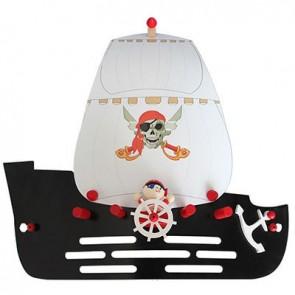 Wandleuchte Piratenschiff, schwarz
