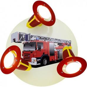 Rondell Feuerwehrauto, rot/gelb