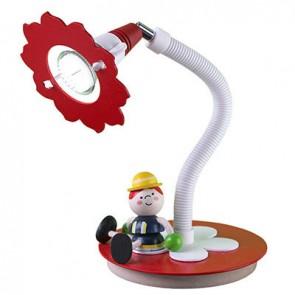 Tischleuchte Feuerwehrmann Fred, rot/weiß
