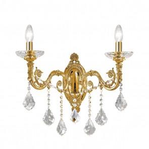 Contarini Crystal WL, Französisch Gold, Kristall, E14, 1299.62.15.SpT