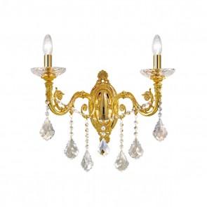 Contarini Crystal WL, 24 Karat Gold, Kristall, E14, 1299.62.3.SpT