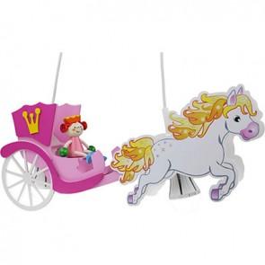 Elobra Pferdekutsche Prinzessin, rosa