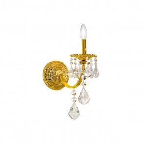 Pisani Crystal WL, Französisch Gold, Kristall, E14, 1301.61.15.SpT