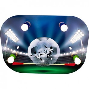 Fußballarena Soccerfight, grün/blau
