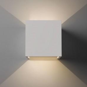 Pienza LED, weißer Gips, 2x LED 3W, 2