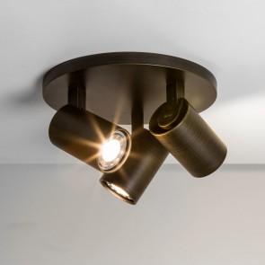 Aufbaustrahler Ascoli Triple Round, bronze, 3 x GU10 max 50