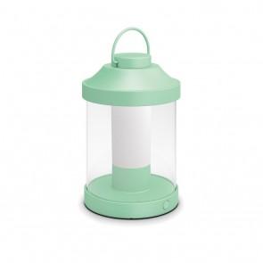 MYG Tragbare LED Laterne Abelia Mintgrün