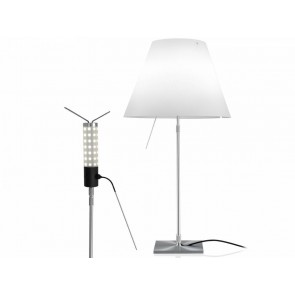 Costanza LED (ohne Schirm), Table 76-110 cm, Alu, Schalter