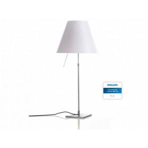 Costanza Table Alu inkl. Hue, 76-110 cm, Schirm weiß, mit Schalter