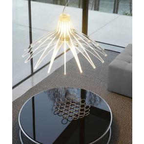 Agave Ø 70 cm transparent 1-flammig eckig