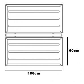 Diade Panele, 180 cm, weiß/blau