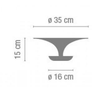 Vibia Funnel 2005, Ø 35 cm, DL-WL, 3 x G9, weiß