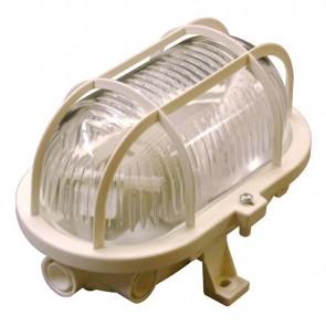 Leuchten, sonstige OVAL Leuchte + Schutzkorb, white