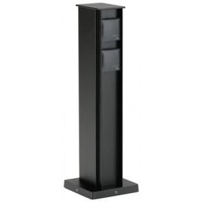Steckdosensäule Höhe 50 cm schwarz 4-fach eckig