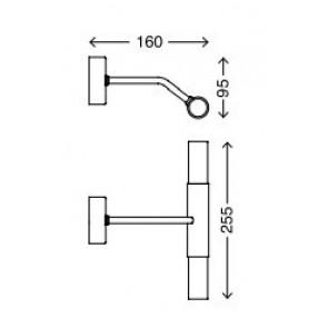 Splash, 2-flammig, Breite 25,5 cm, nickel matt
