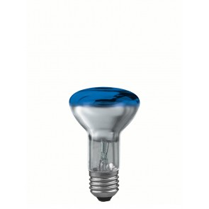 R63 E27 40W 6,3 cm, blau