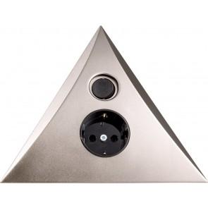 Heitronic Steckdosen-Dreieck Luxor mit Ein/Ausschalter