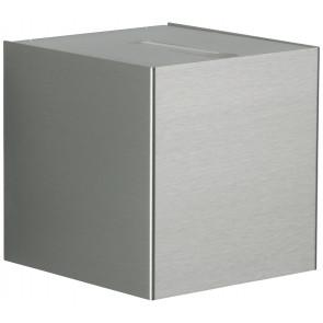 WL Lichtaustritt eng/breit 10,5 x 10,5 cm metallisch 2-flammig würfelförmig