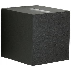 Nr. 2416  schwarz, Lichtaustritt eng/breit,2 x LED 6,7W, je 600 lm, 3000 K