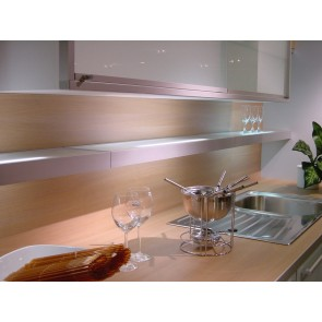 Glasbodenleuchte 1x8W, 450 mm lang, 3500K