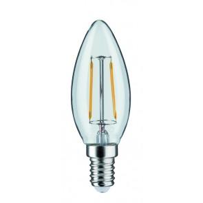 LED Kerze 2,5W E14 230V Klar 2700K