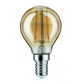 LED Tropfen 2,5W E14 230V Gold 2500K