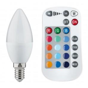 Paulmann LED Kerze Farbwechsel 3,5W E14 30V mit Fernbedienung