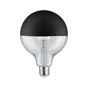 LED Globe 125 5W E27 230V Kopfspiegel Schwarz mat