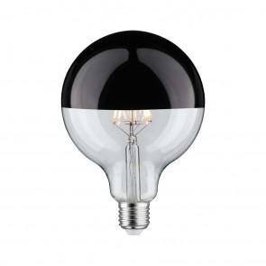 LED Globe 125 5W E27 230V Kopfspiegel Schwarzchro