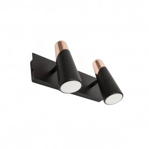 Lao WL, Schwarz/Copper 2 X LED 4,5W 3000K