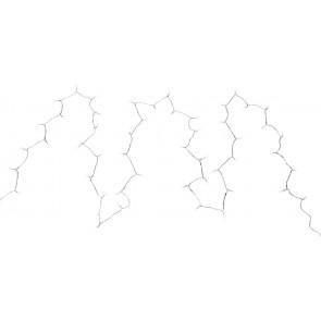 LICHTERKETTE Wandleuchte Weiß, 50xLED