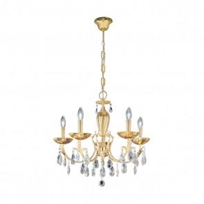 Victoria 2 Luster, 24 Karat Gold, Kristall, E14, 3003.85.3.KoT/me30